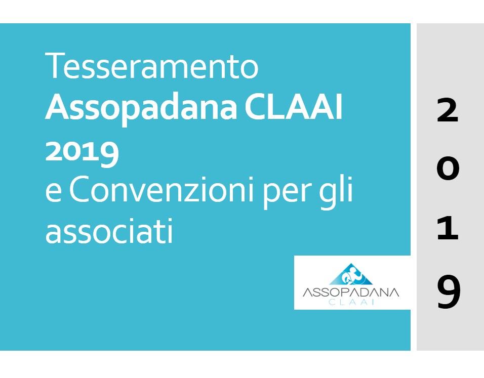 TESSERAMENTO ASSOPADANA CLAAI 2019