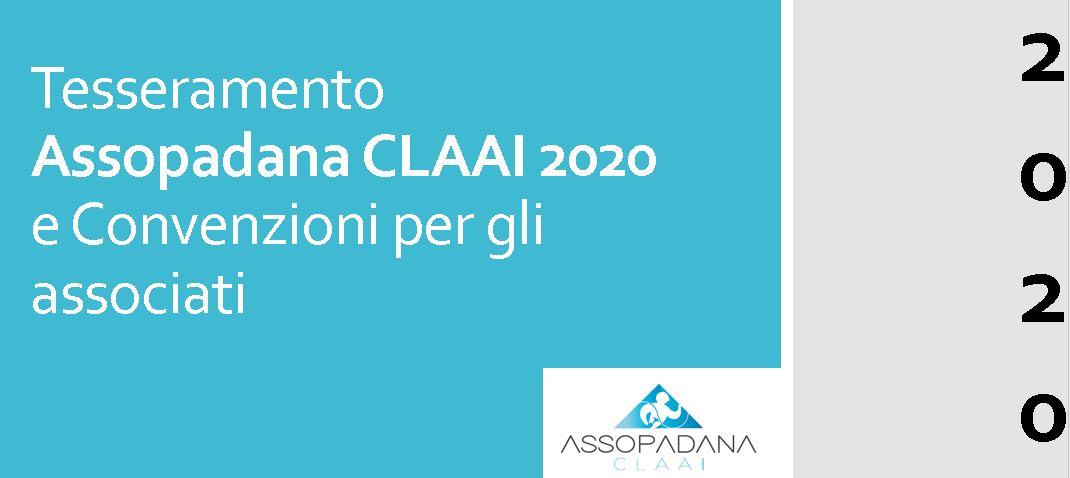 TESSERAMENTO ASSOPADANA CLAAI 2020