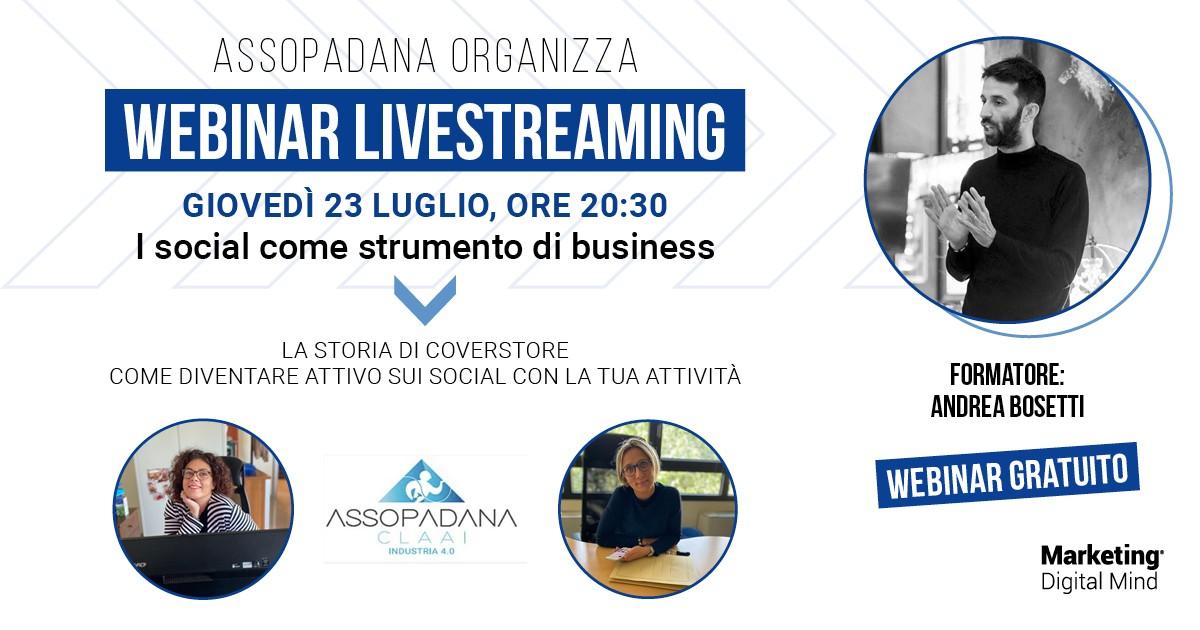WEBINAR LIVESTRAMING – I SOCIAL COME STRUMENTO DI BUSINESS