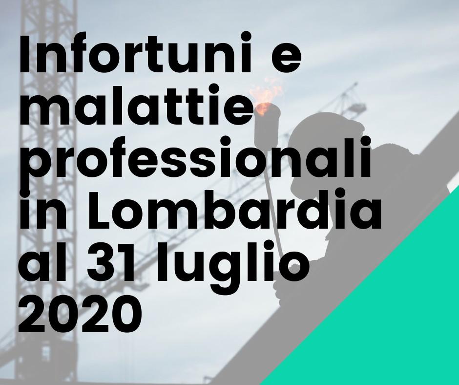 Infortuni E Malattie Professionali In Lombardia Al 31 Luglio 2020