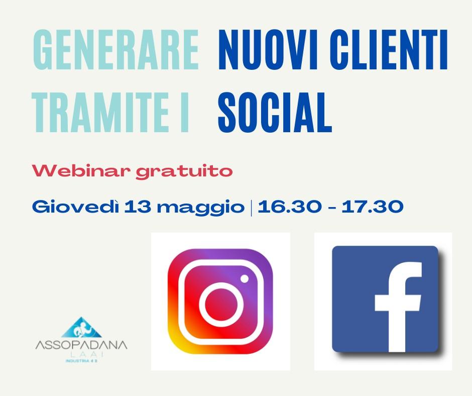"""Webinar Gratuito """"COME GENERARE CLIENTI TRAMITE I SOCIAL"""""""